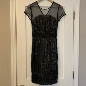 Breathtaking black sequin dress